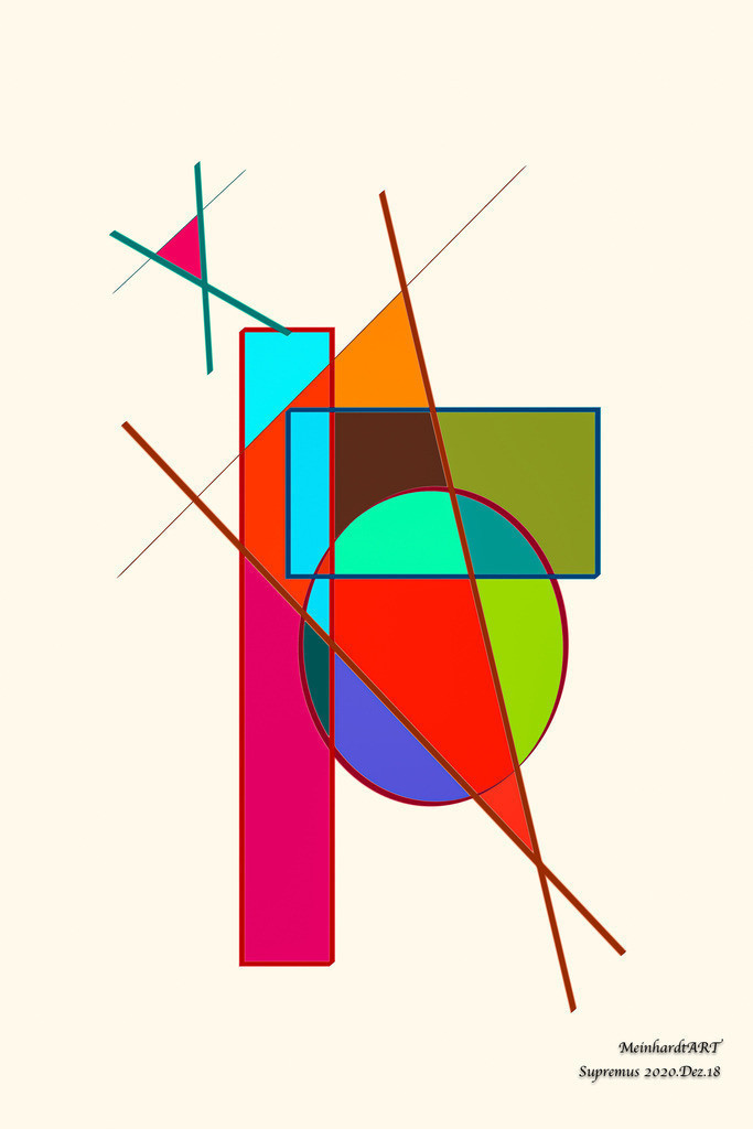 Supremus.2020.Dez.18   Meine Serie SUPREMUS, ist für Liebhaber der abstrakten Kunst. Diese Serie wird von mir digital gezeichnet. Die Farben und Formen bestimme ich zufällig. Daher habe ich auch die Bilder nach dem Tag, Monat und Jahr benannt. Der Titel entspricht somit dem Erstellungsdatum. Um den ökologischen Fußabdruck so gering wie möglich zu halten, können Sie das Bild mit einer vorderseitigen digitalen Signatur erhalten. Sollten Sie Interesse an einer Sonderbestellung (anderes Format, Medium, Rückseite handschriftlich signiert) oder einer Rahmung haben, dann nehmen Sie bitte Kontakt mit mir auf.