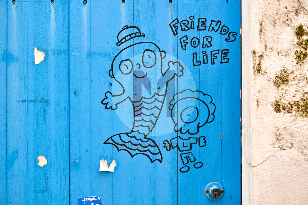 Friends for ever, Graffiti, Algarve, Portugal