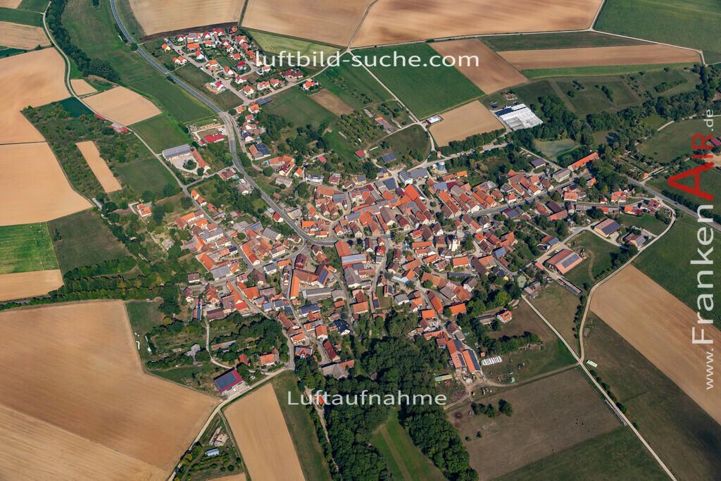 welbhausen-19-688 | aktuelles Luftbild von Welbhausen   - Luftaufnahme wurde 2019 von https://frankenair.de mittels Flugzeug (keine Drohne) erstellt.