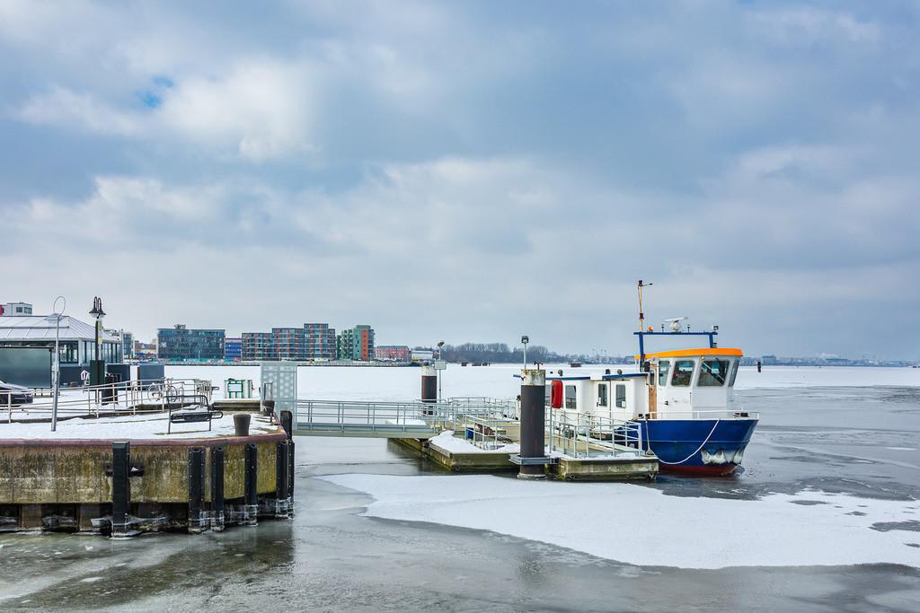 Winter im Stadthafen in Rostock   Winter im Stadthafen in Rostock.