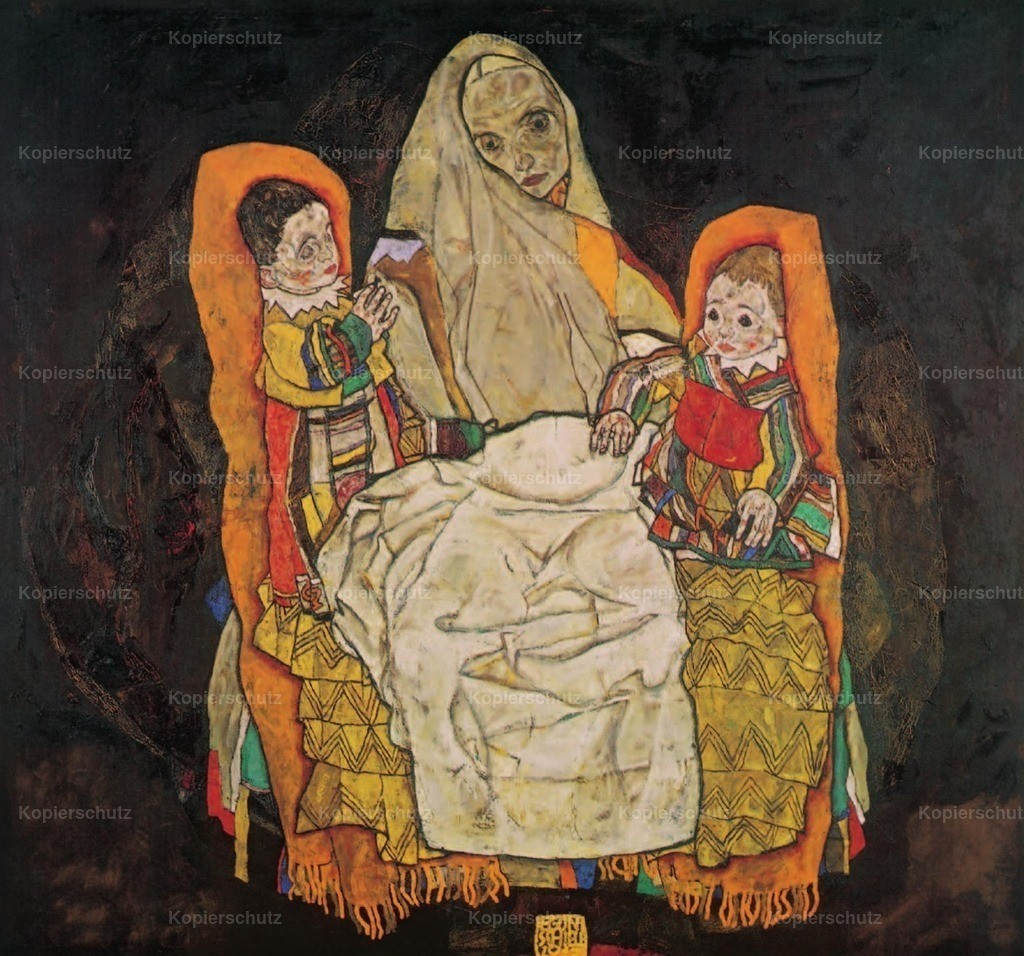 Schiele_ Egon (1890-1918) - Mother with two children 1915-17