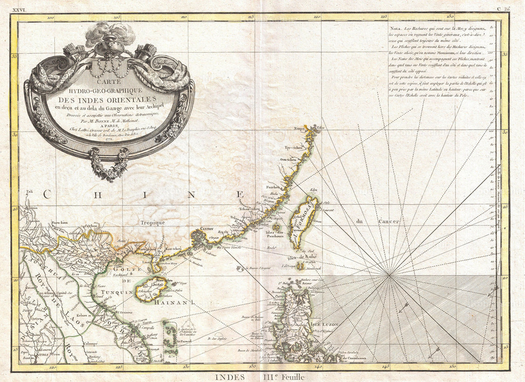 1771_Bonne_Map_of_Tonkin_(Vietnam)_China__Formosa_(Taiwan)_and_Luzon_(Philippines)