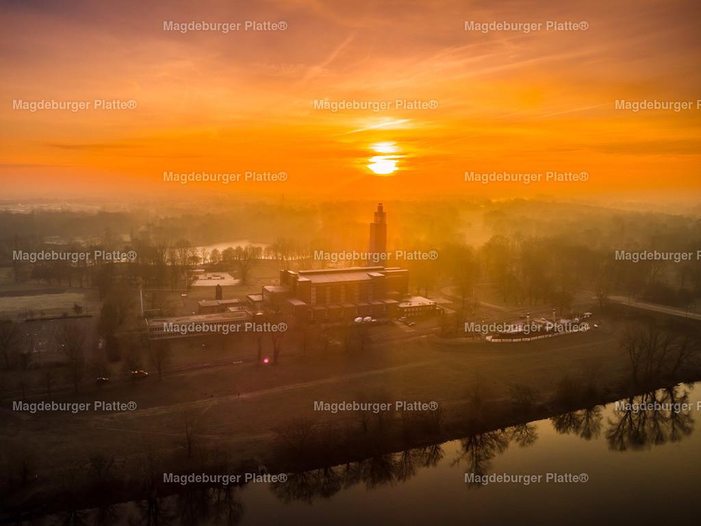 Magdeburg Sonnenaufgang Hubrücke Stadthalle-0010