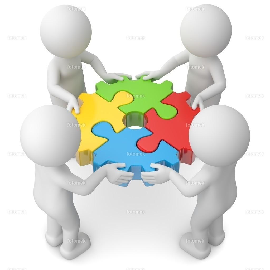 Teamwork Puzzle Zahnrad