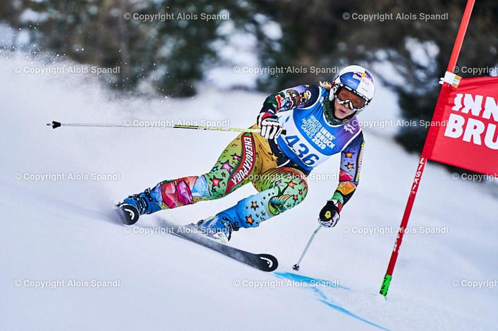 ALS5855_WWMG_GS-II_C | (C) FotoLois.com, Alois Spandl, WinterWorldMastersGames 2020 Innsbruck, Giant Slalom-II Gruppe C Damen, Patscherkofel Olympiaabfahrt, Mi 15. Jänner 2020.