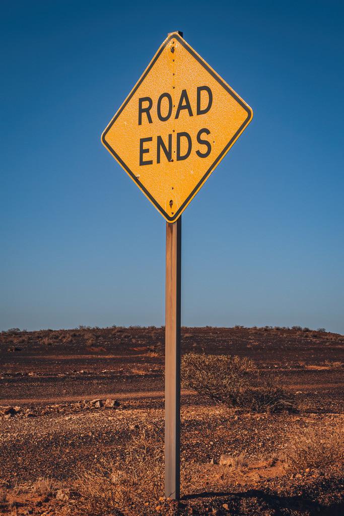 Road Ends Schild in Australien | Road Ends Schild in Australien