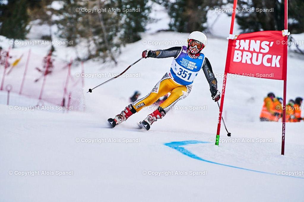 ALS5409_WWMG_GS-II_C | (C) FotoLois.com, Alois Spandl, WinterWorldMastersGames 2020 Innsbruck, Giant Slalom-II Gruppe C Damen, Patscherkofel Olympiaabfahrt, Mi 15. Jänner 2020.