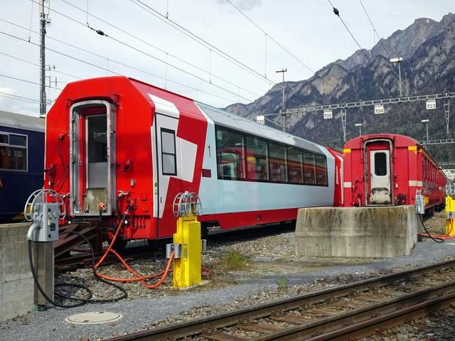 RhB Abstellanlage am Bahnhof Chur | Ein Blick auf die Abstellanlage am Bahnhof Chur