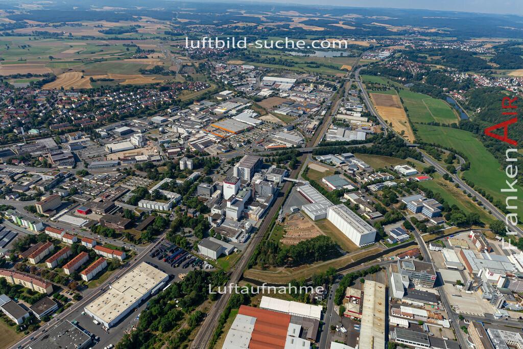 gewerbegebiet-kulmbach-19-699 | aktuelles Luftbild von Gewerbegebiet  Kulmbach - Luftaufnahme wurde 2019 von https://frankenair.de mittels Flugzeug (keine Drohne) erstellt.