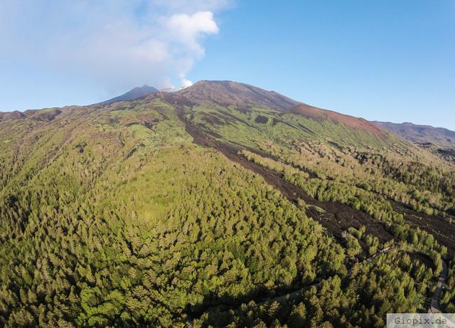 Luftaufnahme Vulkan Ätna | Luftaufnahme von der Ostflanke des Vulkan Ätna
