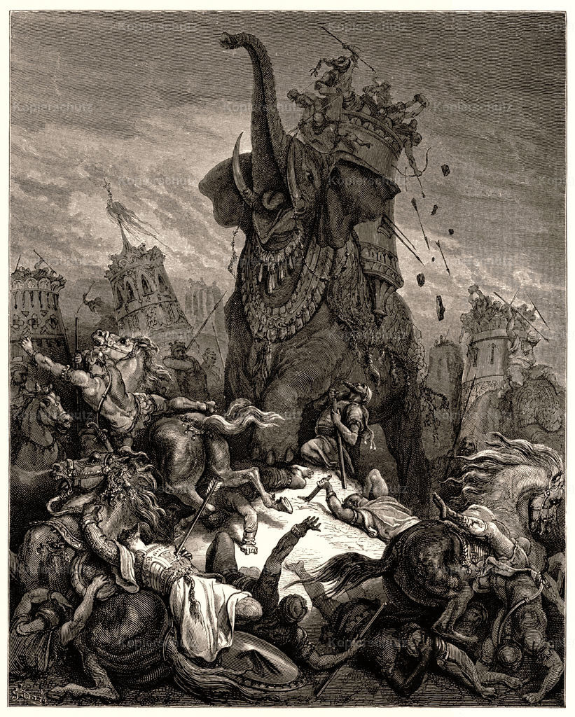 Death of Eleazer Gustave Dore Large Format