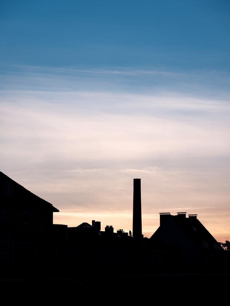 Silhouette auf dem Kesselbrink | Stadt-Silhouette früh morgens auf dem Kesselbrink.