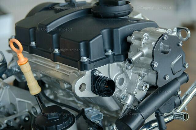 Ottomotor | Ein Exponat von einem Auto-Verbrennungsmotor