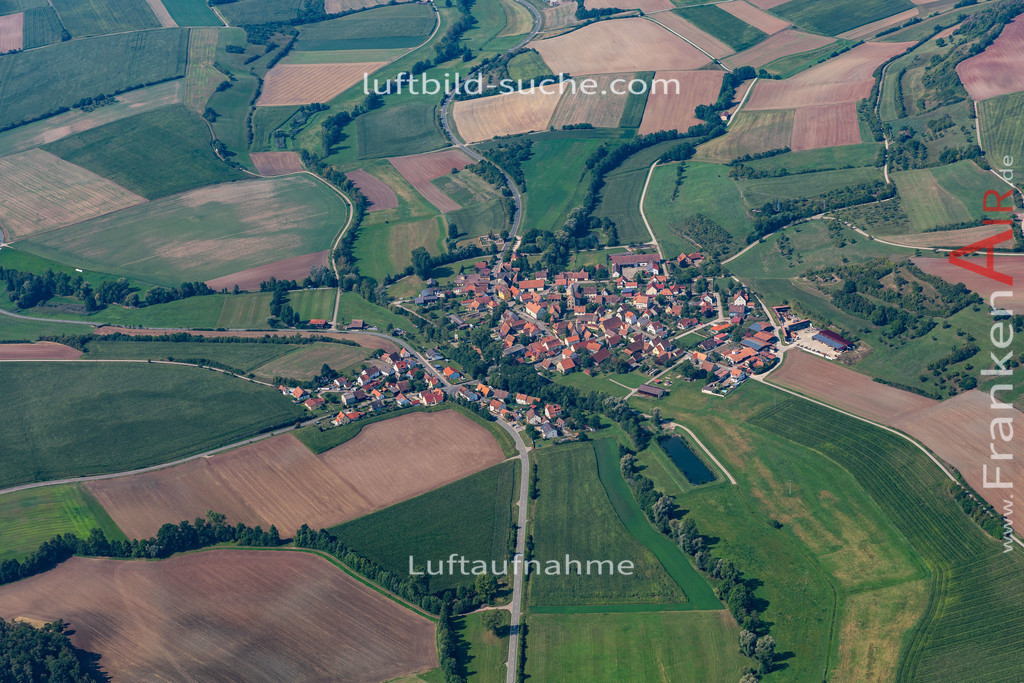 unterfaltenbernheim-19-583 | aktuelles Luftbild von Unterfaltenbernheim   - Luftaufnahme wurde 2019 von https://frankenair.de mittels Flugzeug (keine Drohne) erstellt.