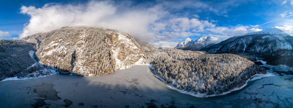 Blindsee | Panoramaaufnahme des Blindsees