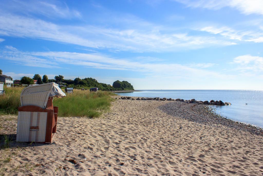 Strandkorb an der Ostsee | Strandkorb am Strand in Langholz