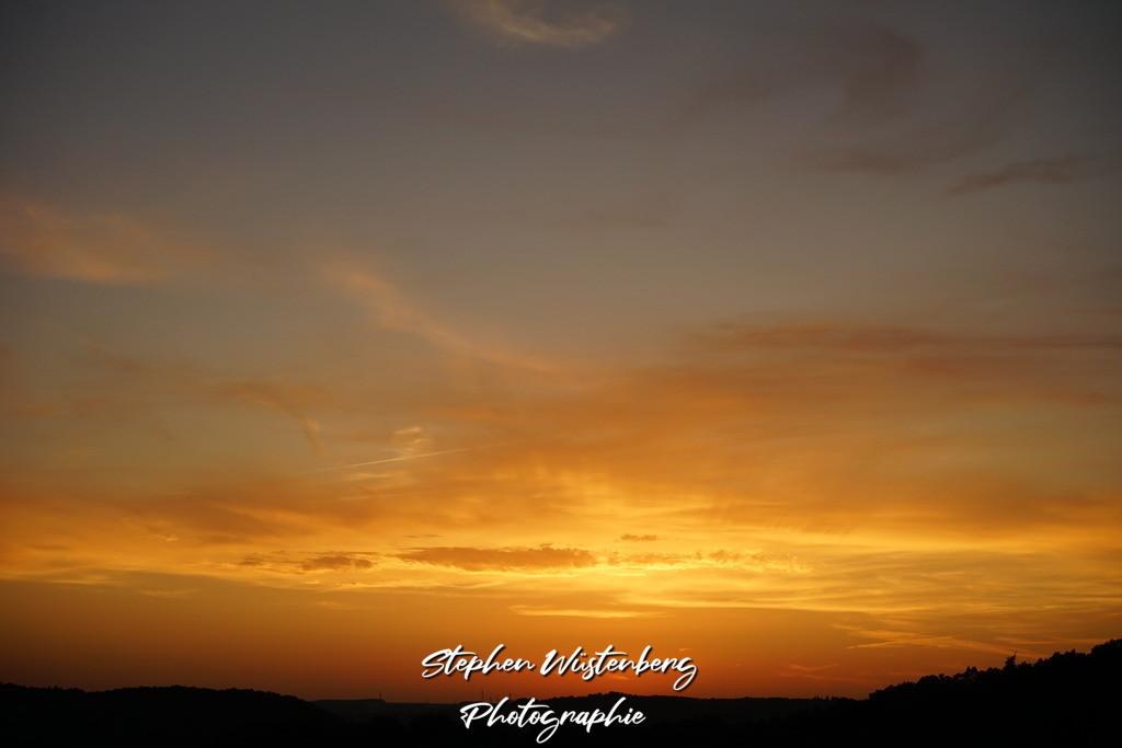Sunset Wartenberg-Rohrbach | Sonnenuntergang in goldenen Farben und Strahlenkranz bei Wartenberg-Rohrbach