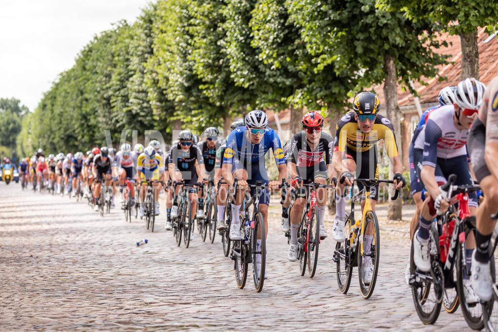 31st PostNord Danmark Rundt - Tour of Denmark 2021, Stage 02 Ribe - Sonderborg; Mogeltonder, 11.08.2021 | 31st PostNord Danmark Rundt - Tour of Denmark 2021, Stage 02 Ribe - Sonderborg; Mogeltonder, 11.08.2021, STEIMLE Jannik (Deceuninck - Quick Step) in the first echelon