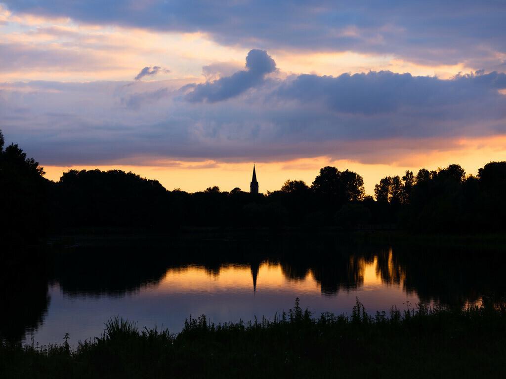 Sommerabend am Obersee | Sommerabend am Obersee in Bielefeld-Schildesche.