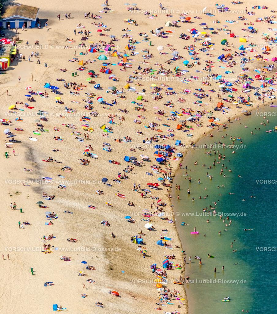 Haltern13081729 | Silbersee II aus der Luft, Sandstrand und türkisfarbenes Wasser, Luftbild von Haltern am See