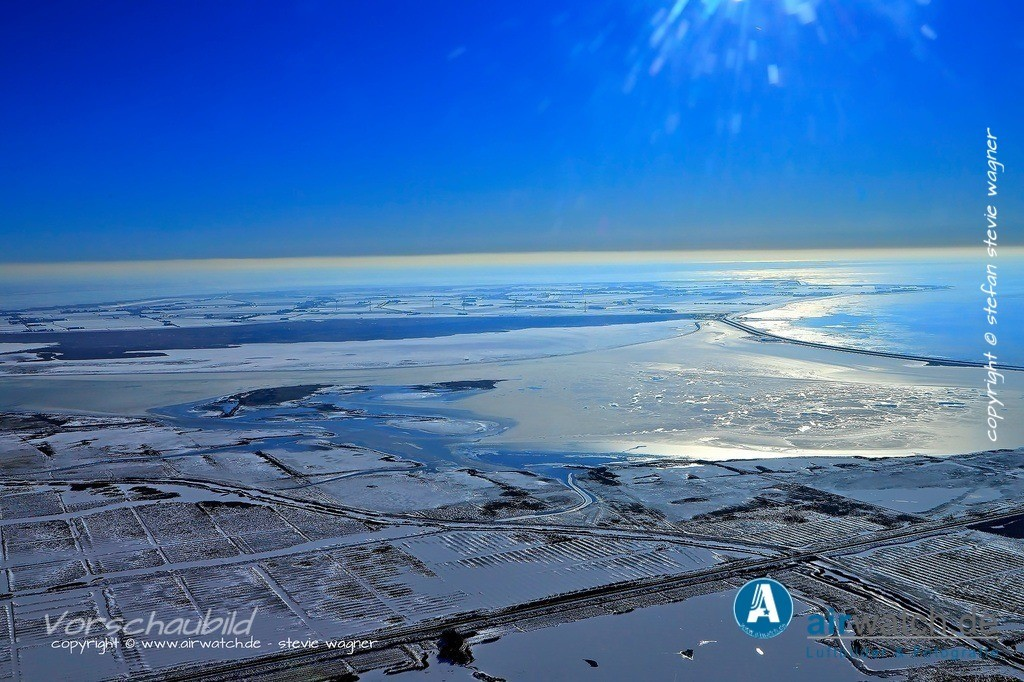 Winter Luftbilder, Nordsee, Beltringharder Koog, Luettmoorsiel | Winter Luftbilder, Nordsee, Beltringharder Koog, Luettmoorsiel