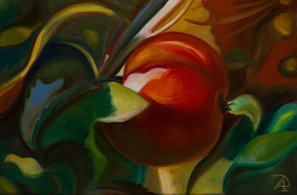 Roter Apfel | Originalformat: 40x60cm  -  Produktionsjahr: 2011