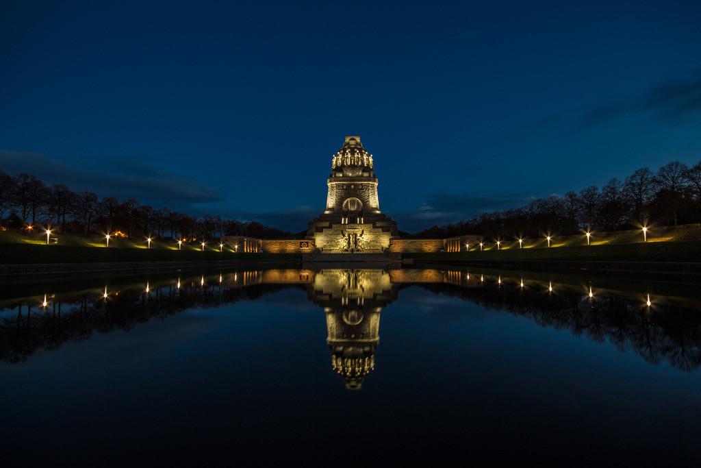 Völkerschlachtdenkmal Nachtlichter Daniel König Querformat