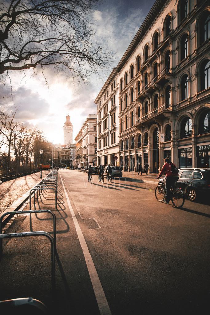 Schiller Straße Abendsonne