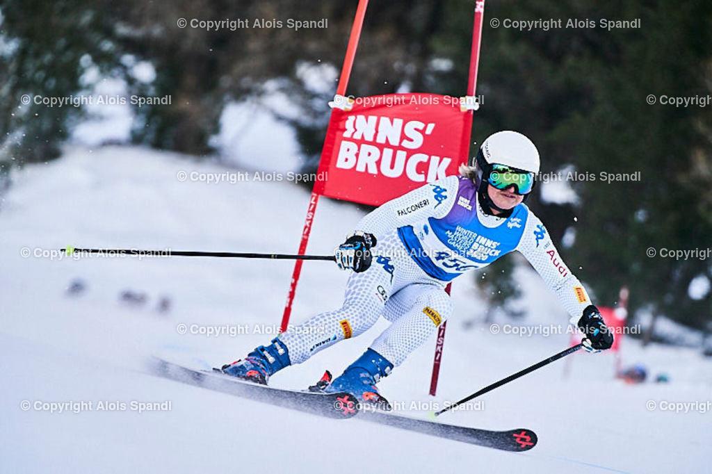 ALS5923_WWMG_GS-II_C   (C) FotoLois.com, Alois Spandl, WinterWorldMastersGames 2020 Innsbruck, Giant Slalom-II Gruppe C Damen, Patscherkofel Olympiaabfahrt, Mi 15. Jänner 2020.