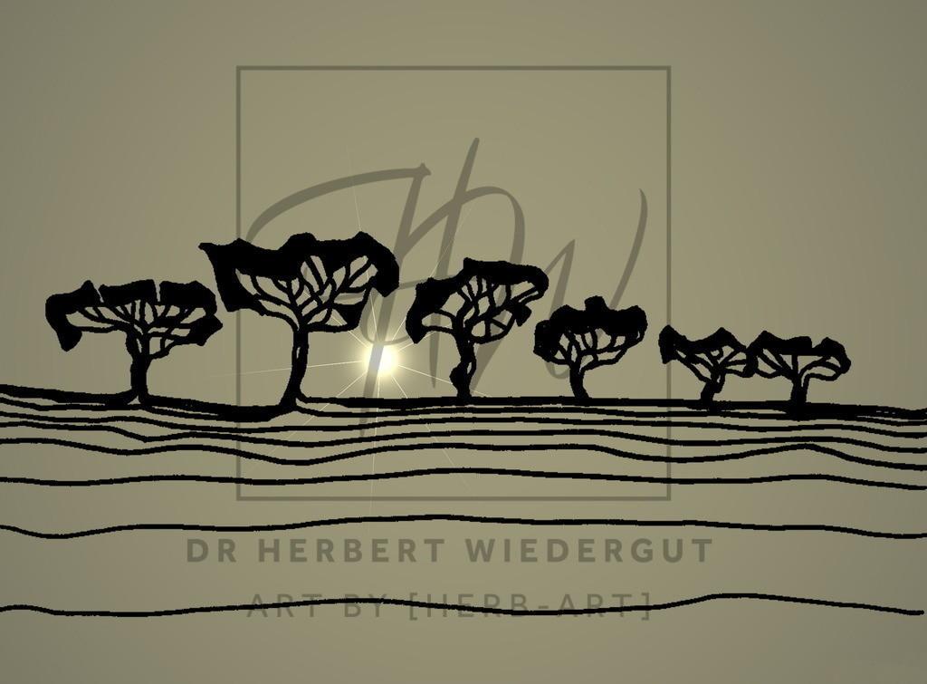 tree   digital veränderte Filzstiftzeichnung von Dr. Herbert Wiedergut