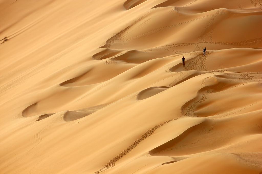 JT-110228-4271 | Roter Sand, Sandduenen, in der Empty Quarter genannten Wueste Rub'al-Khali, Emirate.