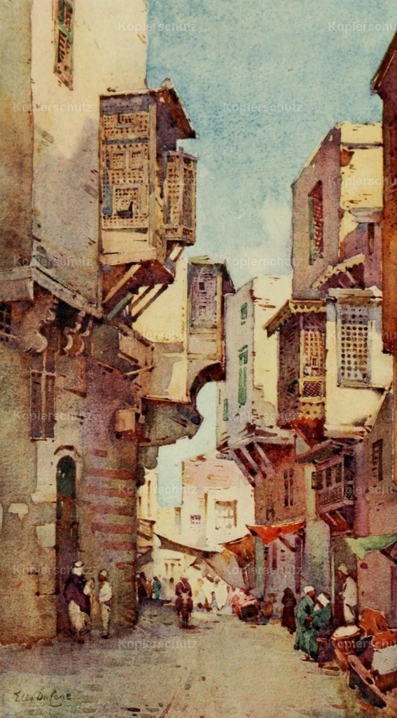 Cane_ Ella du (1874-1943) - Banks of the Nile 1913 - An old street in Cairo