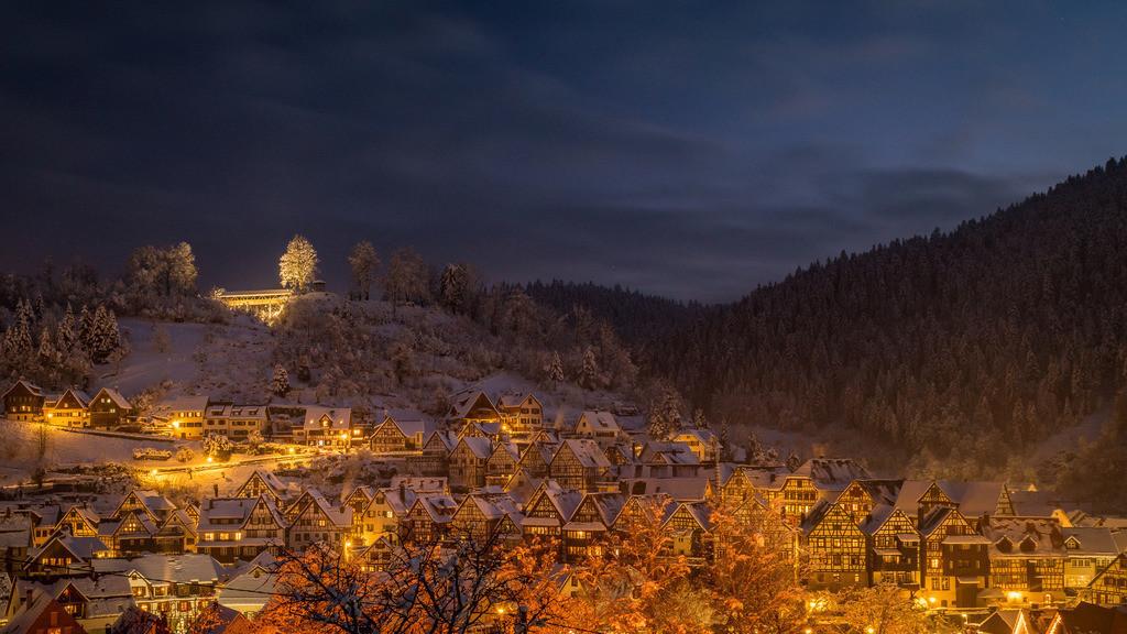Winterabend in Schiltach | Die beleuchtete Fachwerkstadt Schiltach im Schwarzwald