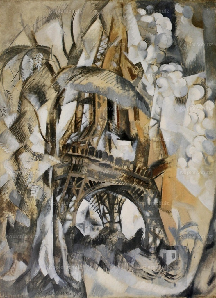 Delaunay_ Robert (1885-1941) - Eiffel Tower with Trees 1910