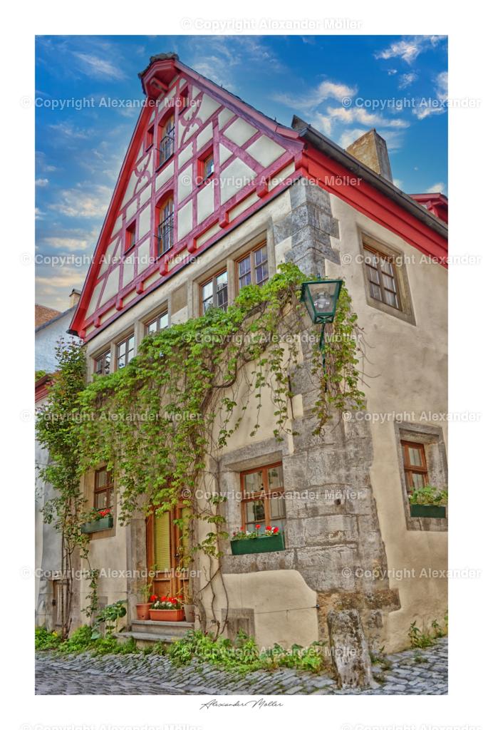 Rothenburg ob der Tauber No.12   Dieses Werk zeigt ein Wohnhaus in der Kirchgasse.