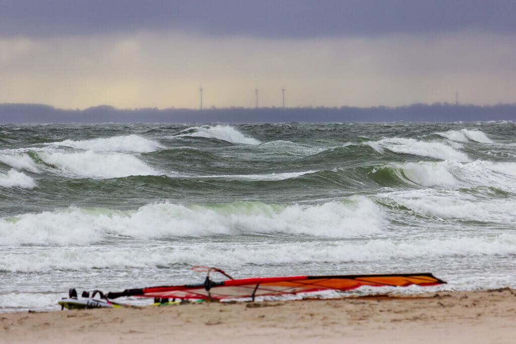 Strand in Damp | Wellen am Strand in Damp