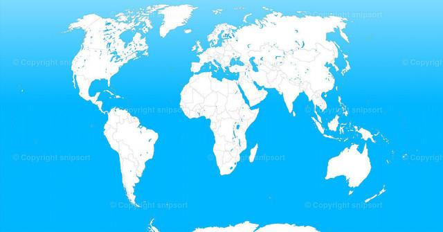 Weltkarte (Farbe) | Illustration einer politischen Karte
