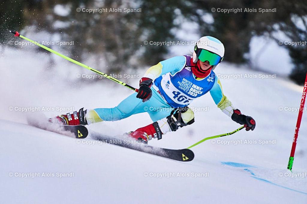 ALS6013_WWMG_GS-II_C | (C) FotoLois.com, Alois Spandl, WinterWorldMastersGames 2020 Innsbruck, Giant Slalom-II Gruppe C Damen, Patscherkofel Olympiaabfahrt, Mi 15. Jänner 2020.