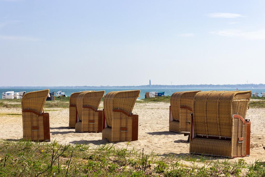 Strandkörbe an der Ostsee | Strandkörbe am Strand in Strande
