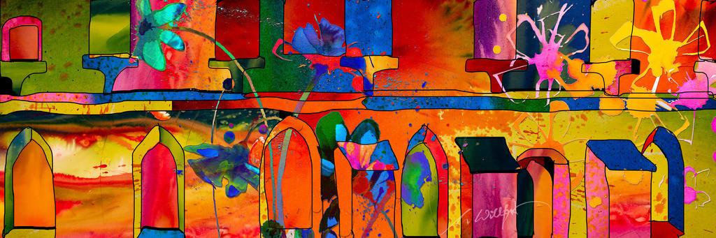 Klosterblumen mit Hau_breit | Weil sie mich begeistern, die freien Blumen im Sommer. Motive der 360°  Lichtkunstausstellung im Klosterhof Blaubeuren