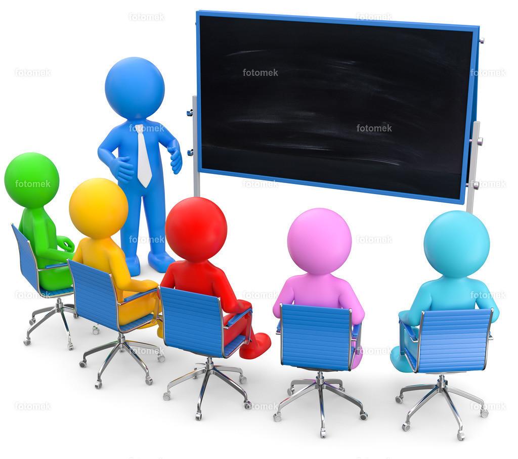 3d Männchen Bildung Tafel | 3d Männchen als Trainer in einer Schulung. Weiterbildung und Fortbildung für Mitarbeiter ist sehr wichtig. An der Tafel wird alles genau erklärt.