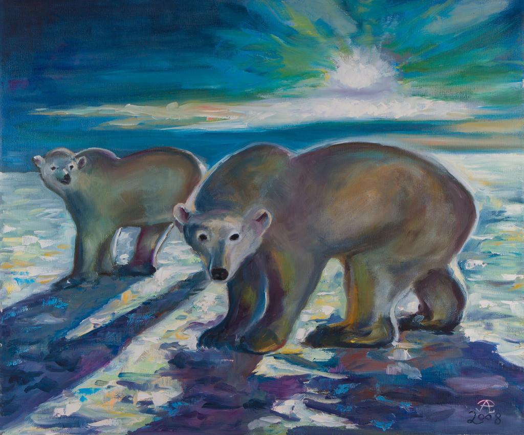 Eisbären | Originalformat: 50x60cm - Produktionsjahr: 2008