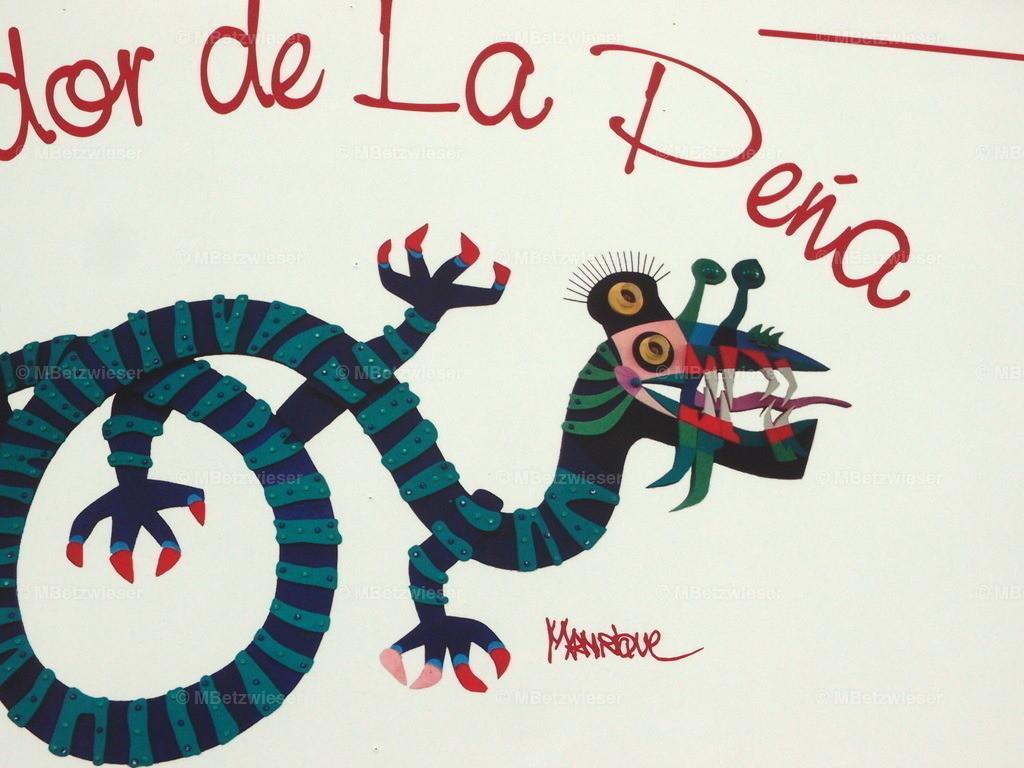 P5065462 | Grafik von César Manrique am Mirador La Peña auf El Hierro