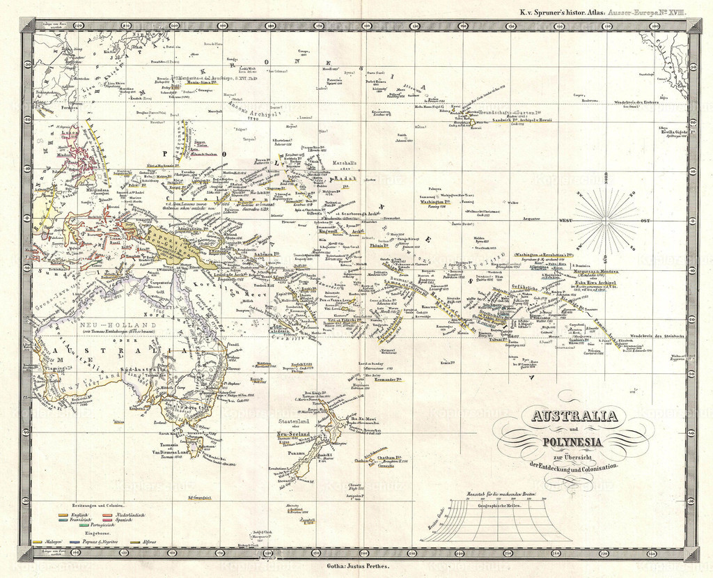 1855_Spruner_Map_of_Australia_and_Polynesia_with_an_overview_of_Discoveries_and_Colonization