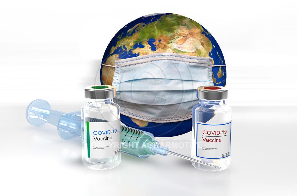 Corona_Impfstoff_Weltkugel_0001 | In Deutschland ist ein zweiter Corona Impstoff verfügbar. Neben dem bisherigen Impfstoff von Biontech Pfizer gibt es noch auch einen vom Hersteller Moderna