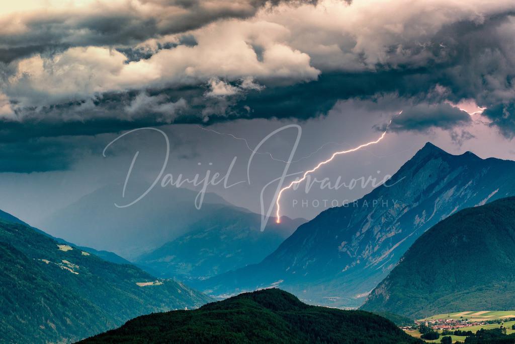 Gewitter | Blitzschlag im Tiroler Oberland