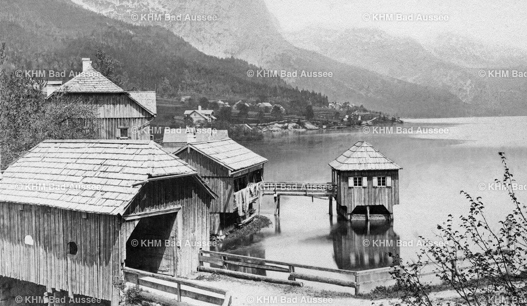 Gru_Seeklause_um1870   Seeklause in Grundlsee um 1870