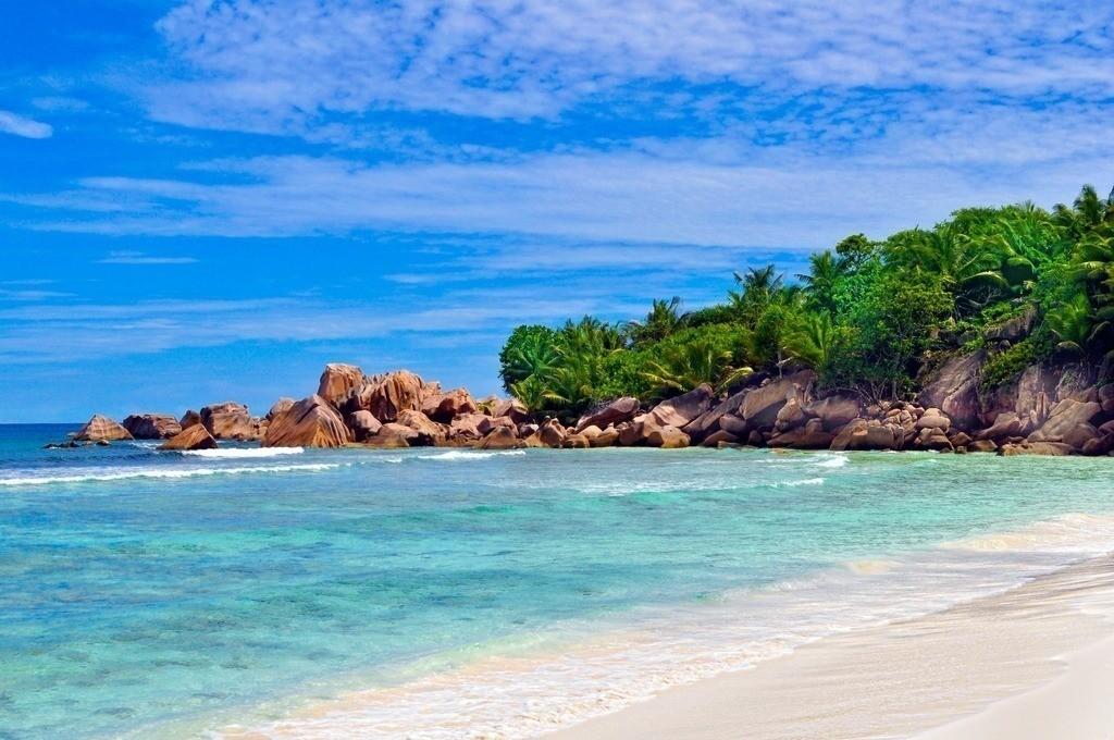 Seychellen - Anse Cocos | Blick auf die einsame Bucht Anse Cocos