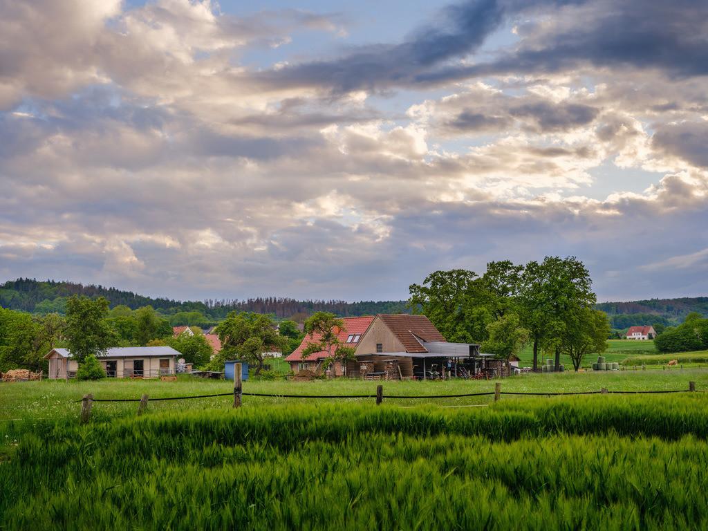 Bauernhof und Felder in Dornberg | Bauernhof und Felder zwischen Kirchdornberg und Hoberge-Uerentrup (Bielefeld).