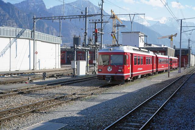 ABDt 515 | Vor dem Depot in Lanquart genießt der ABDt 515 die Sonne.